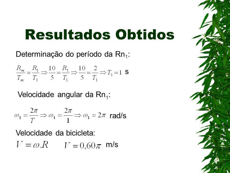 Resultados Obtidos Determinação do período da Rn1: s