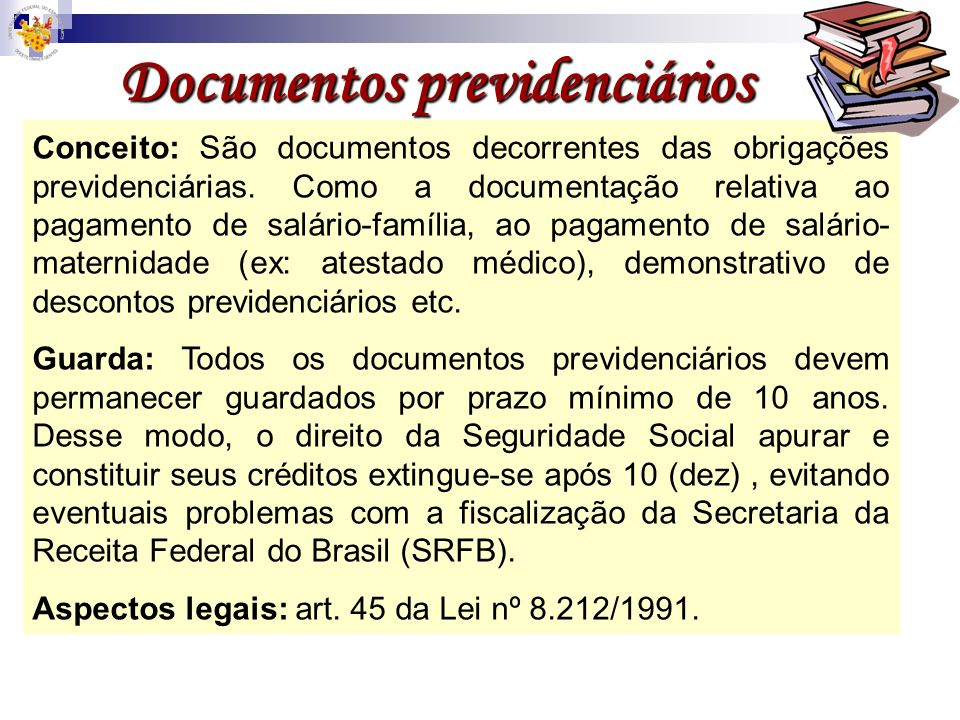 Documentos previdenciários