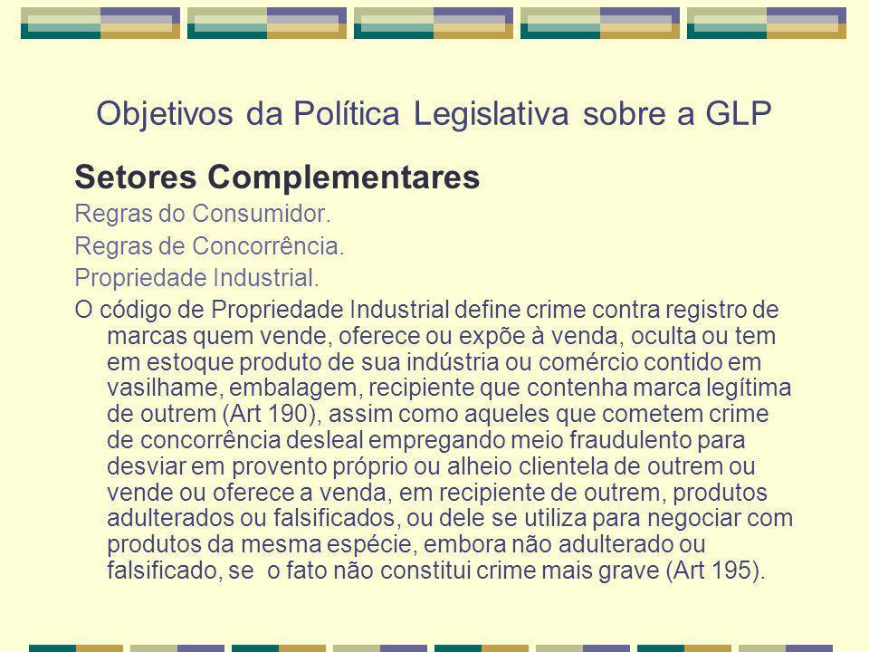 Objetivos da Política Legislativa sobre a GLP