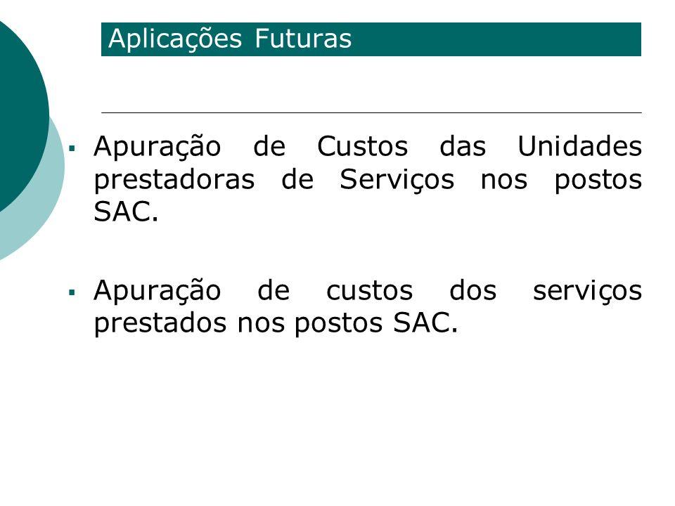 Apuração de custos dos serviços prestados nos postos SAC.
