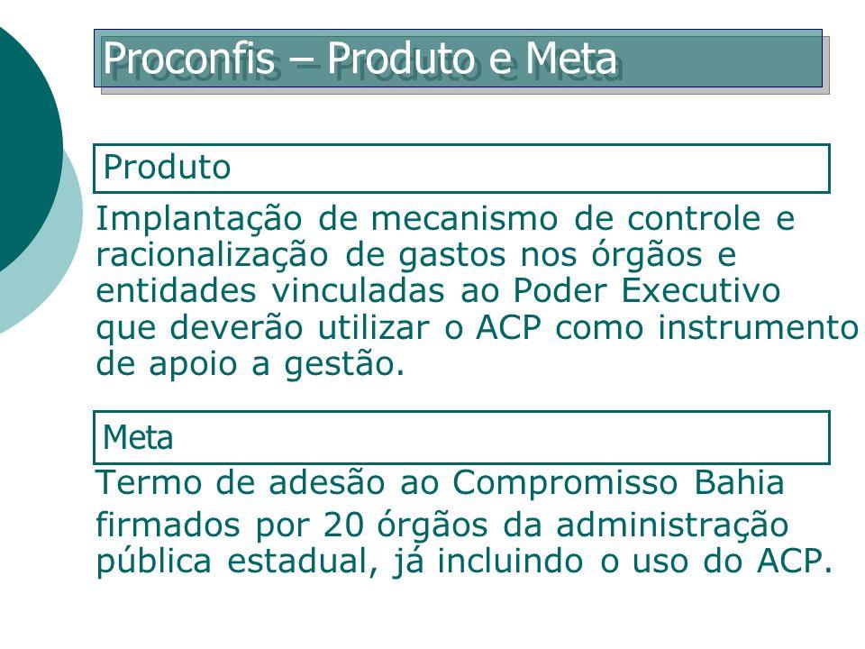 Proconfis – Produto e Meta