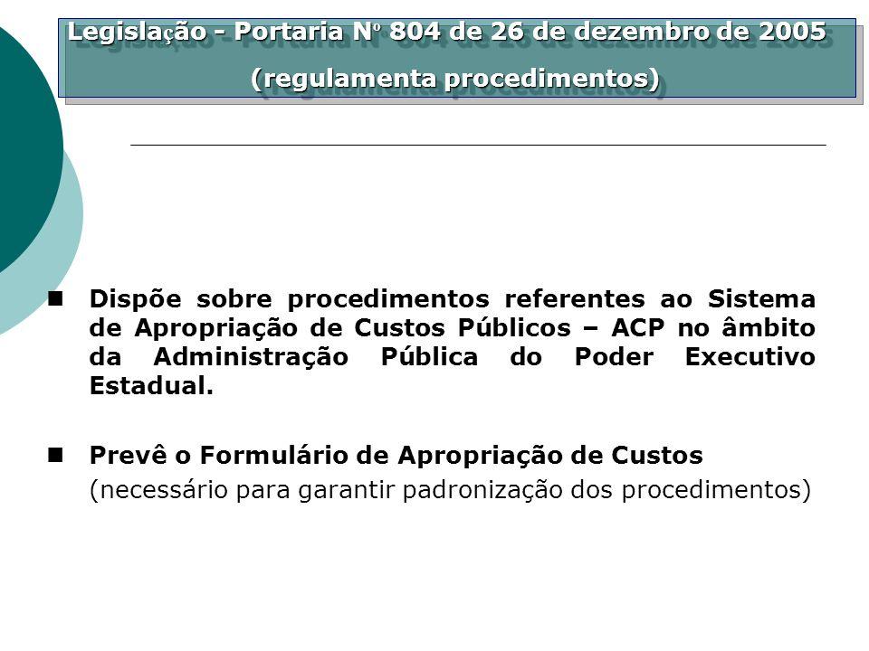 Legislação - Portaria Nº 804 de 26 de dezembro de 2005