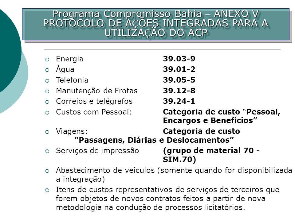 Programa Compromisso Bahia – ANEXO V
