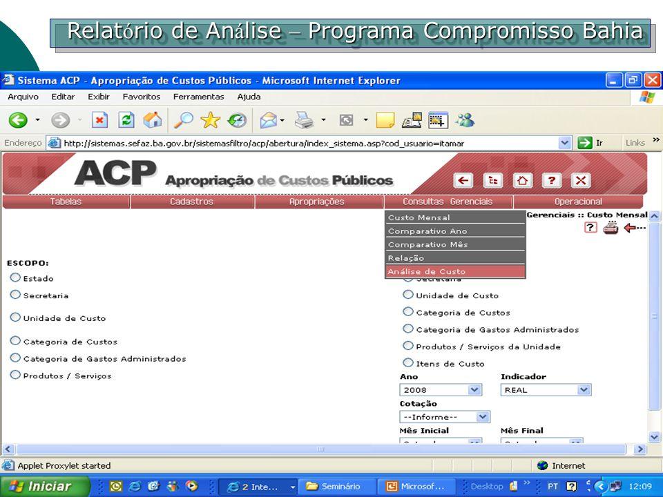 Relatório de Análise – Programa Compromisso Bahia