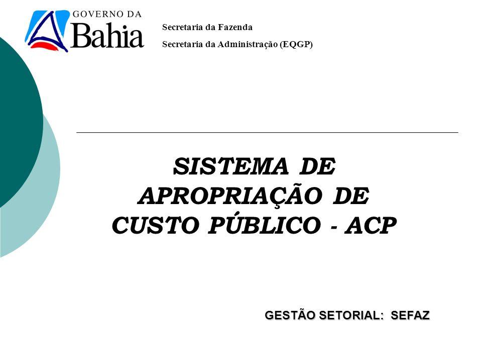 SISTEMA DE APROPRIAÇÃO DE CUSTO PÚBLICO - ACP