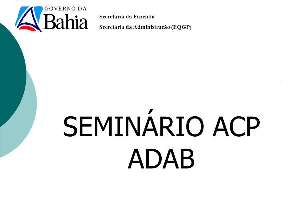 SEMINÁRIO ACP ADAB ADAB