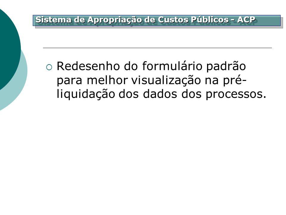 Sistema de Apropriação de Custos Públicos - ACP