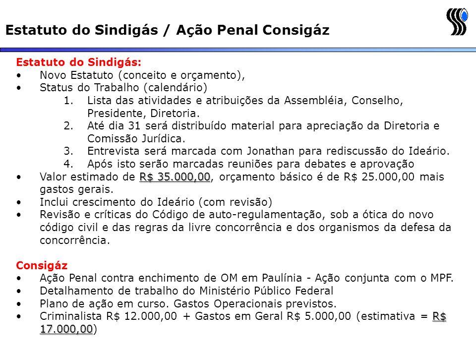 Estatuto do Sindigás / Ação Penal Consigáz