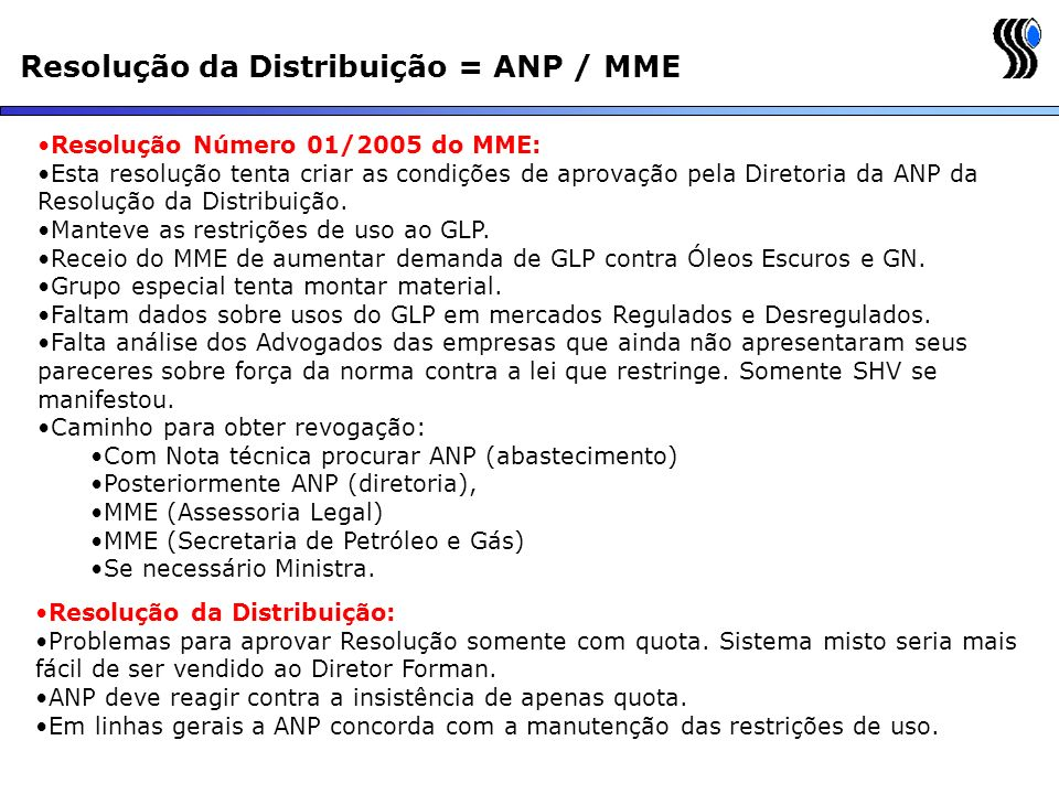 Resolução da Distribuição = ANP / MME