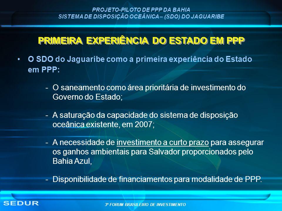 SEDUR PRIMEIRA EXPERIÊNCIA DO ESTADO EM PPP