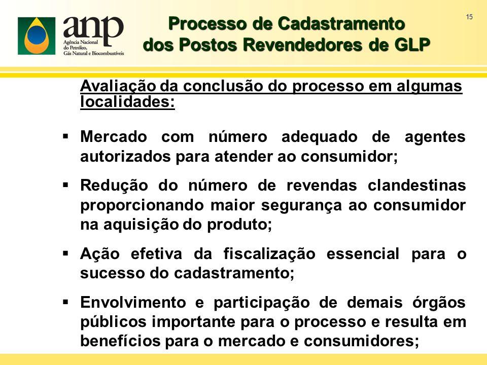 Processo de Cadastramento dos Postos Revendedores de GLP