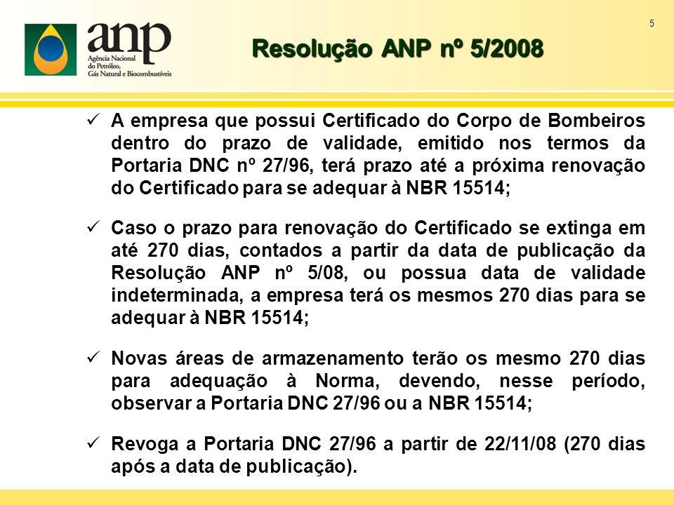 Resolução ANP nº 5/2008