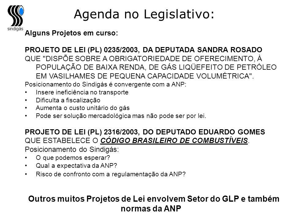 Agenda no Legislativo: