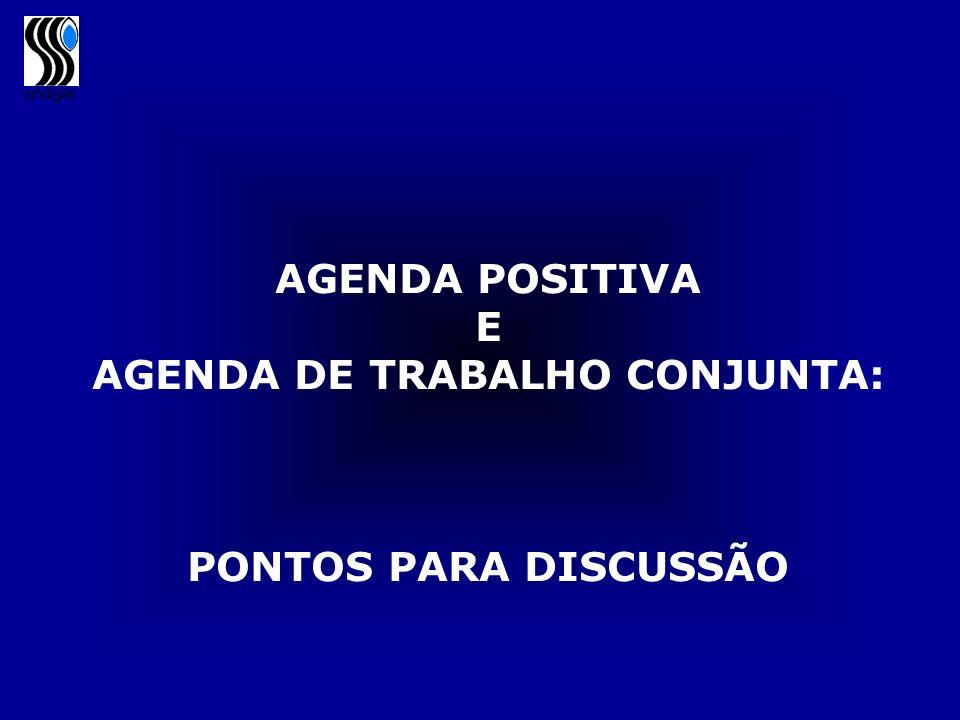 AGENDA DE TRABALHO CONJUNTA: