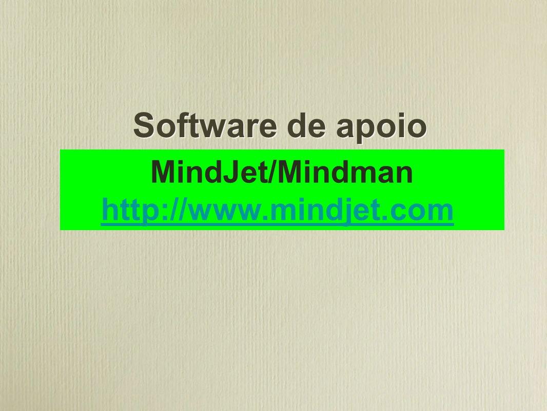 Software de apoio MindJet/Mindman http://www.mindjet.com