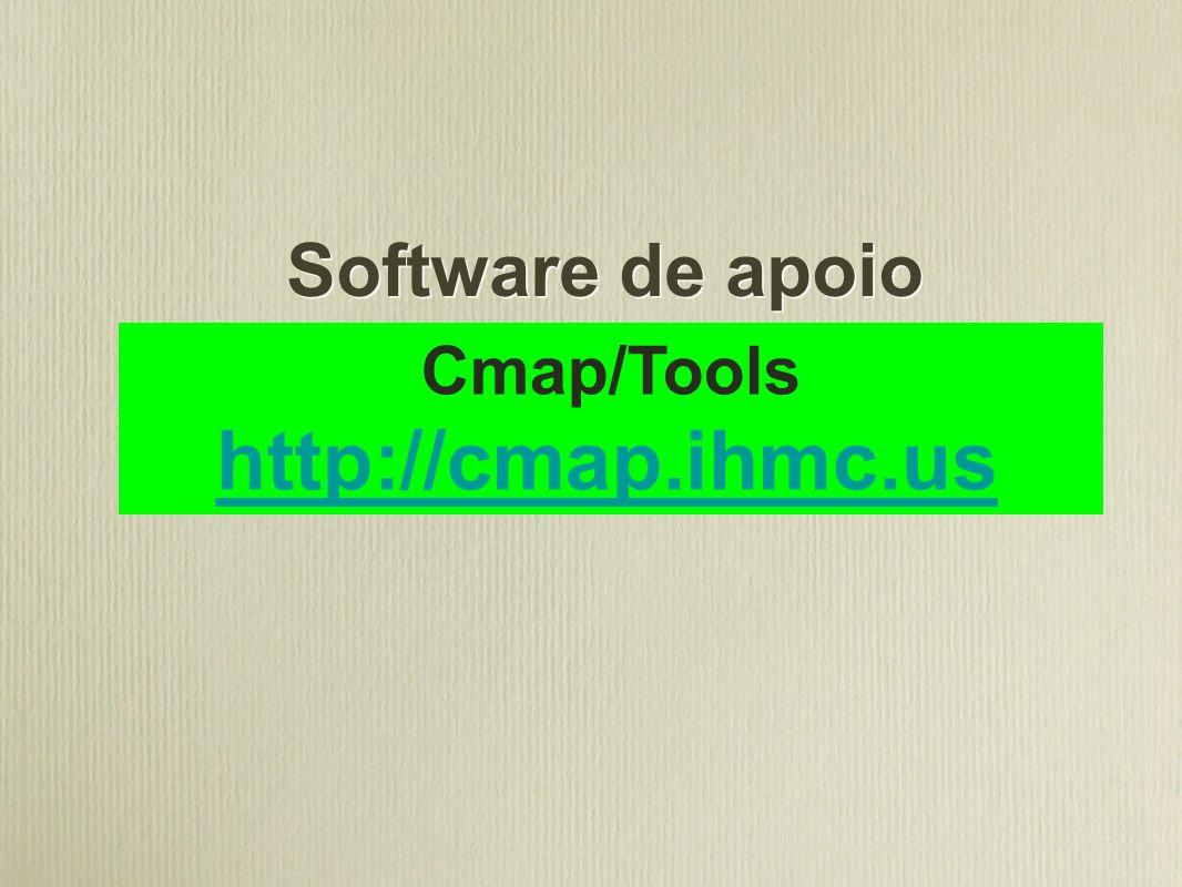 Software de apoio Cmap/Tools http://cmap.ihmc.us