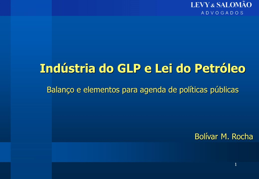 Indústria do GLP e Lei do Petróleo