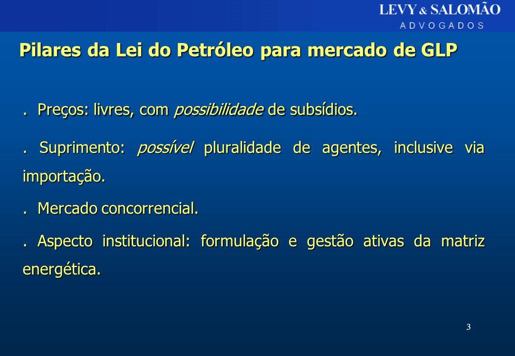 Pilares da Lei do Petróleo para mercado de GLP