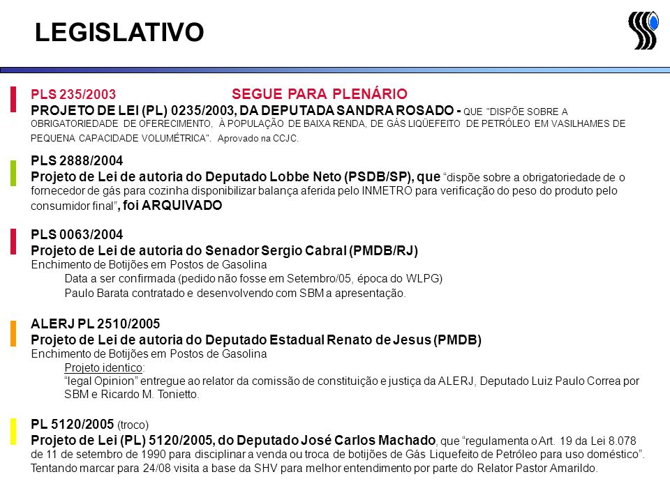 LEGISLATIVO PLS 235/2003 SEGUE PARA PLENÁRIO