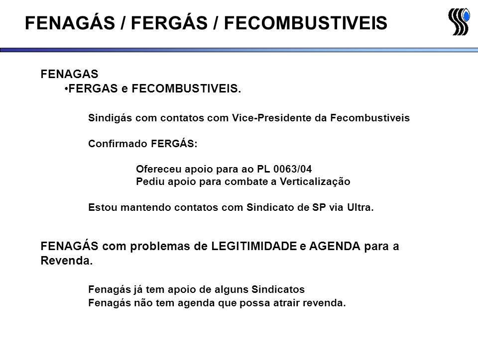 FENAGÁS / FERGÁS / FECOMBUSTIVEIS