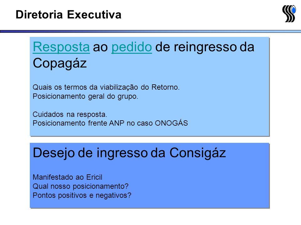 Resposta ao pedido de reingresso da Copagáz
