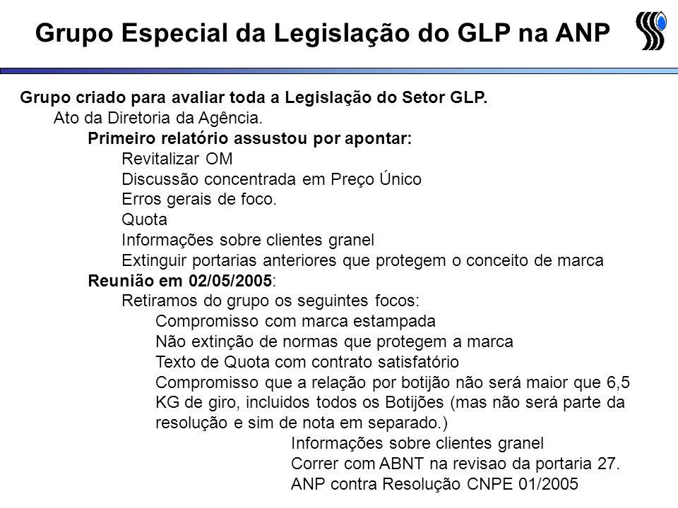 Grupo Especial da Legislação do GLP na ANP