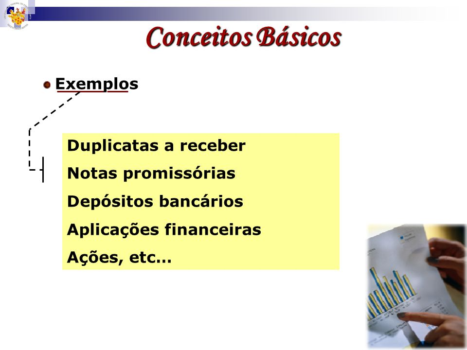 Conceitos Básicos Duplicatas a receber Notas promissórias