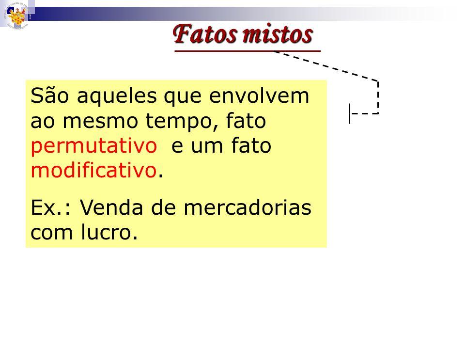 Fatos mistos São aqueles que envolvem ao mesmo tempo, fato permutativo e um fato modificativo.
