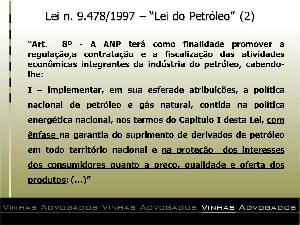 Lei n. 9.478/1997 – Lei do Petróleo (2)