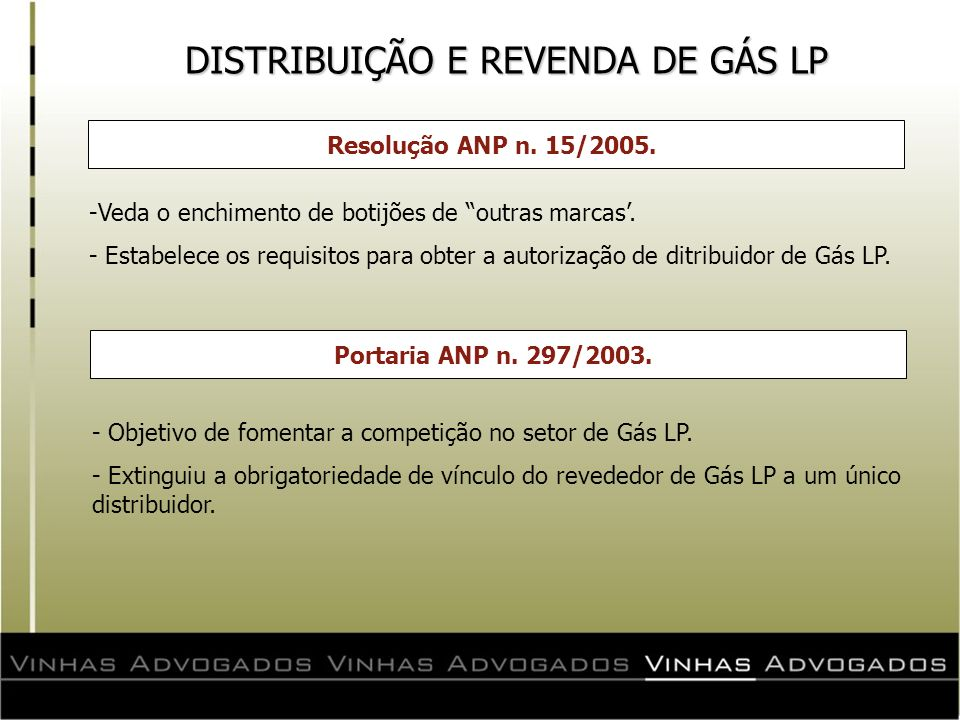 DISTRIBUIÇÃO E REVENDA DE GÁS LP