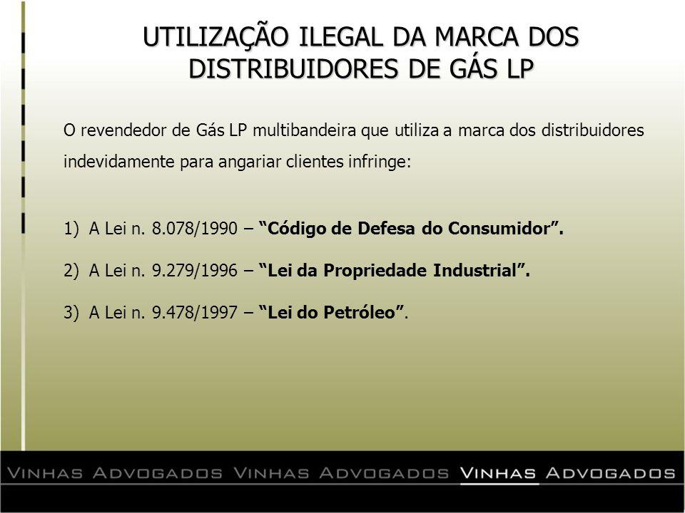 UTILIZAÇÃO ILEGAL DA MARCA DOS DISTRIBUIDORES DE GÁS LP