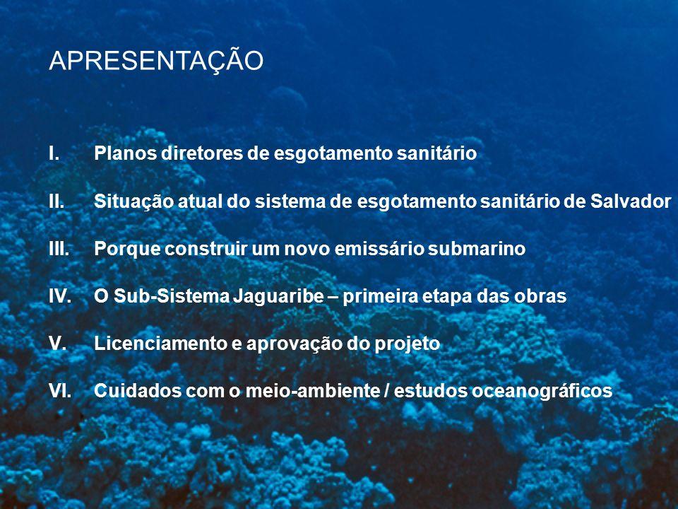 APRESENTAÇÃO Planos diretores de esgotamento sanitário