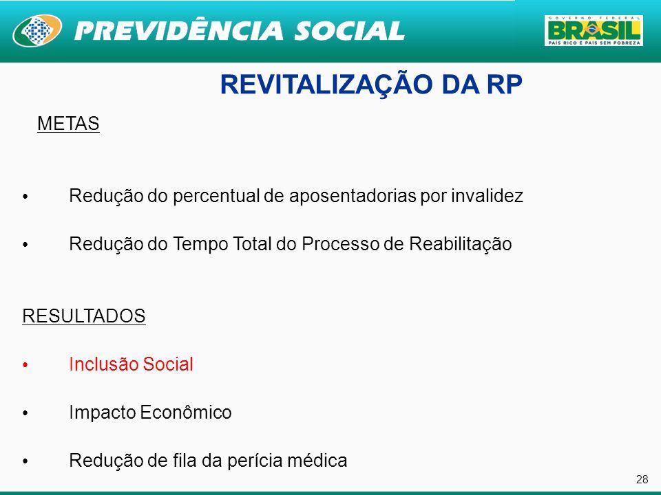 REVITALIZAÇÃO DA RP 28 METAS