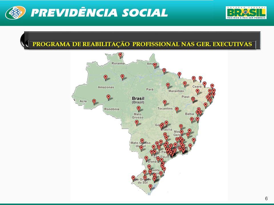 PROGRAMA DE REABILITAÇÃO PROFISSIONAL NAS GER. EXECUTIVAS