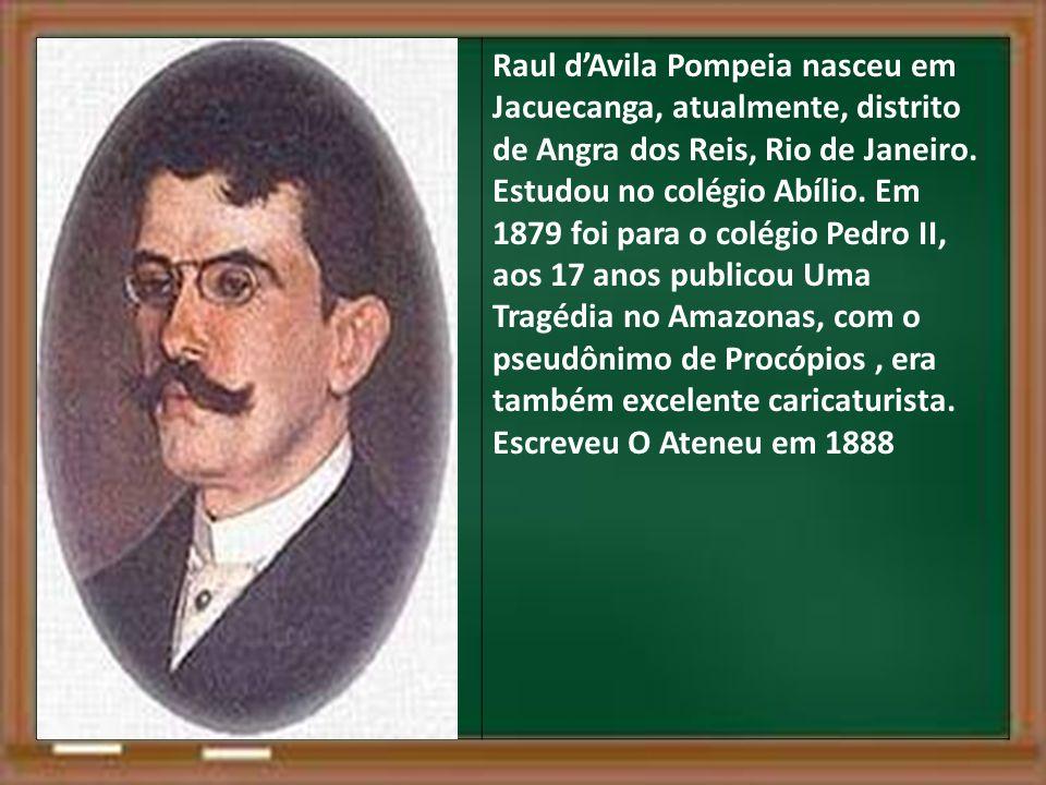 Raul d'Avila Pompeia nasceu em Jacuecanga, atualmente, distrito de Angra dos Reis, Rio de Janeiro.