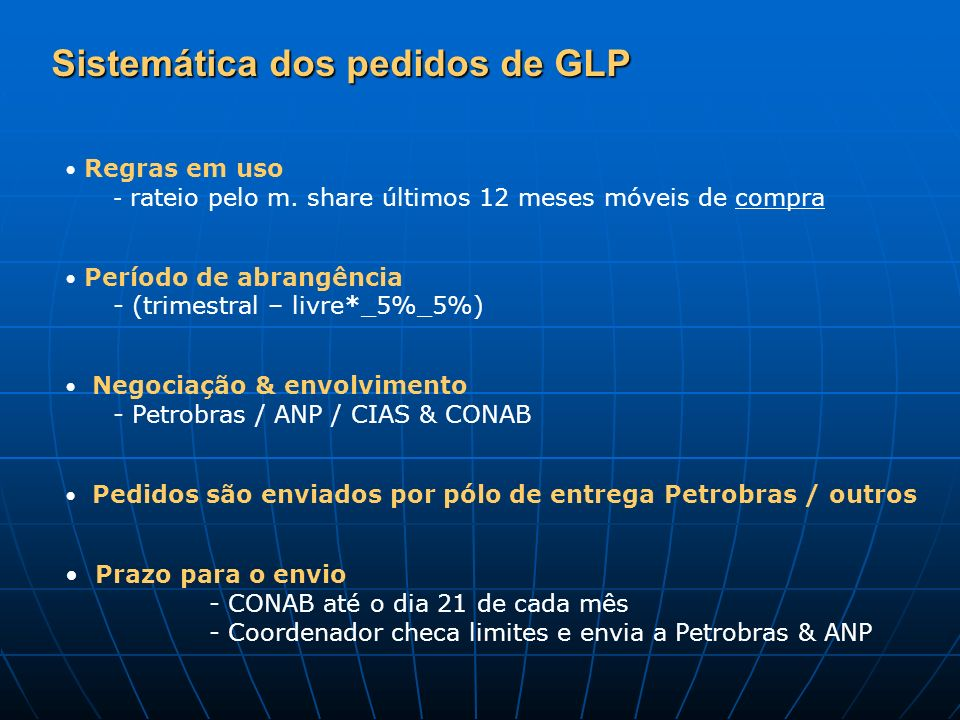 Sistemática dos pedidos de GLP