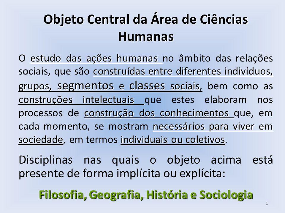 Objeto Central da Área de Ciências Humanas