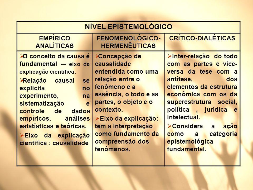 FENOMENOLÓGICO-HERMENÊUTICAS