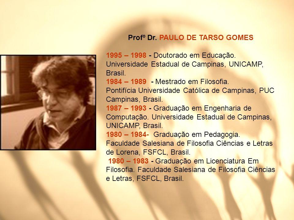 Profº Dr. PAULO DE TARSO GOMES