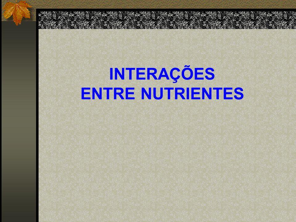 INTERAÇÕES ENTRE NUTRIENTES