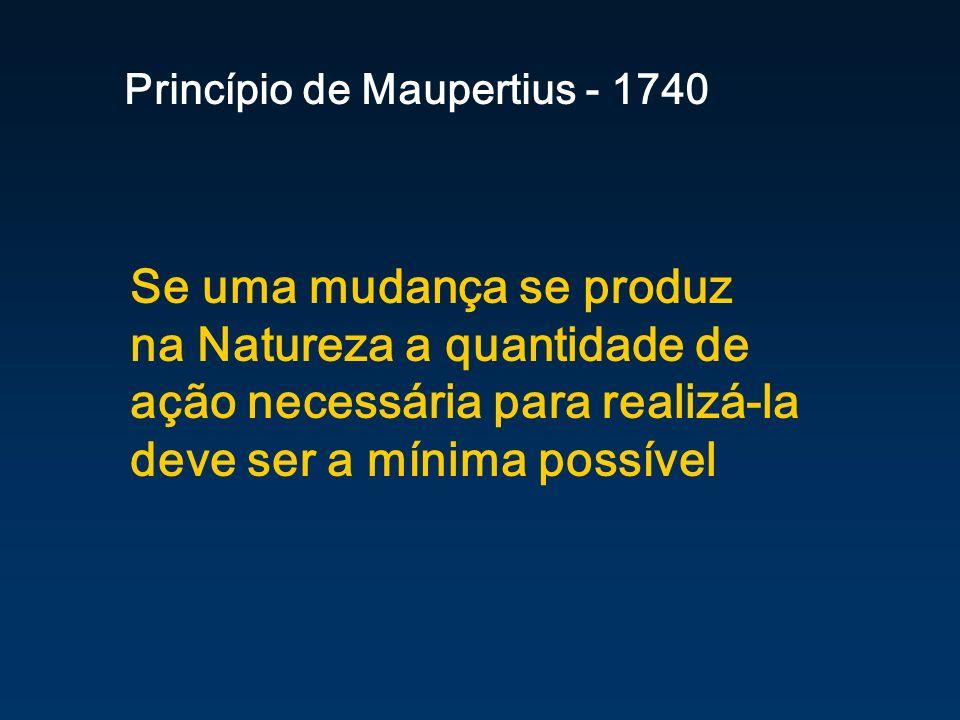 Princípio de Maupertius - 1740
