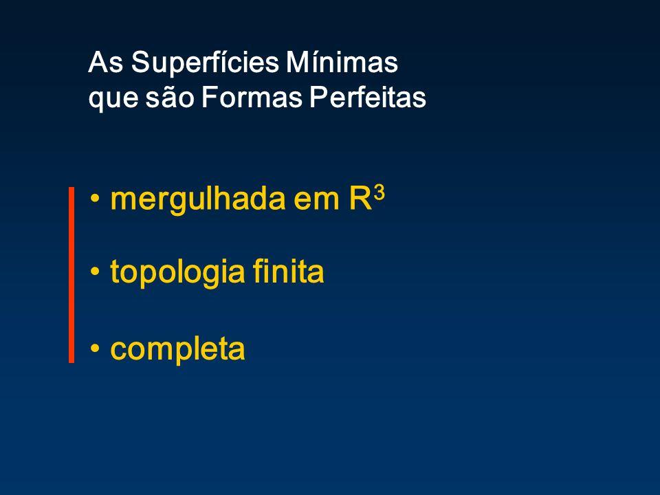 mergulhada em R3 topologia finita completa As Superfícies Mínimas