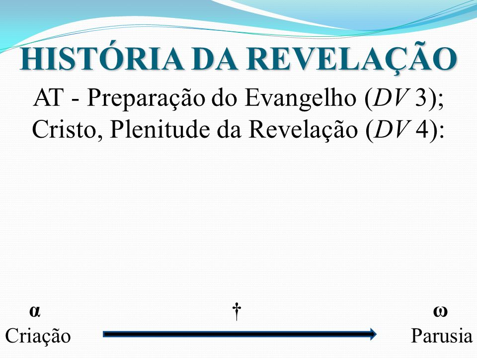 HISTÓRIA DA REVELAÇÃO AT - Preparação do Evangelho (DV 3);