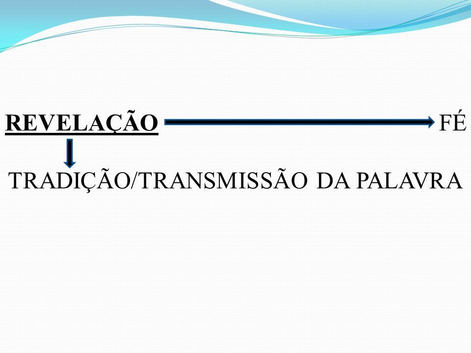 REVELAÇÃO FÉ TRADIÇÃO/TRANSMISSÃO DA PALAVRA