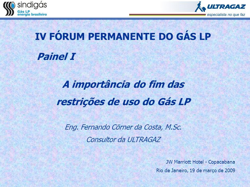 IV FÓRUM PERMANENTE DO GÁS LP Painel I