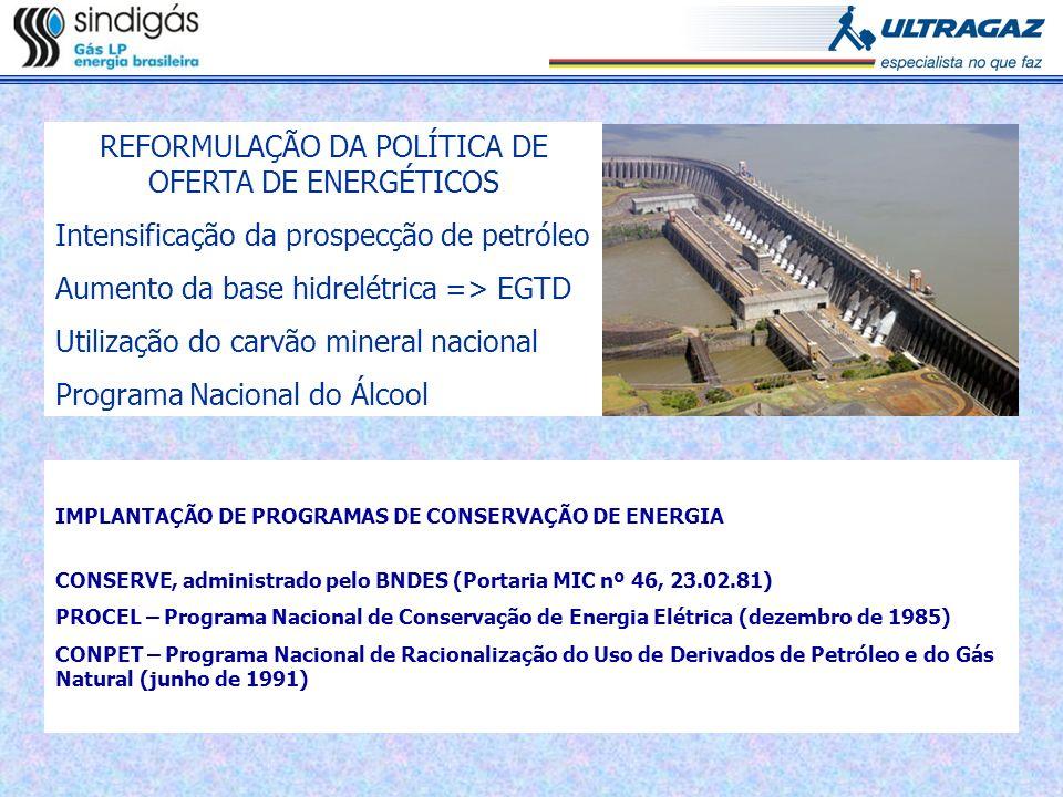 REFORMULAÇÃO DA POLÍTICA DE OFERTA DE ENERGÉTICOS
