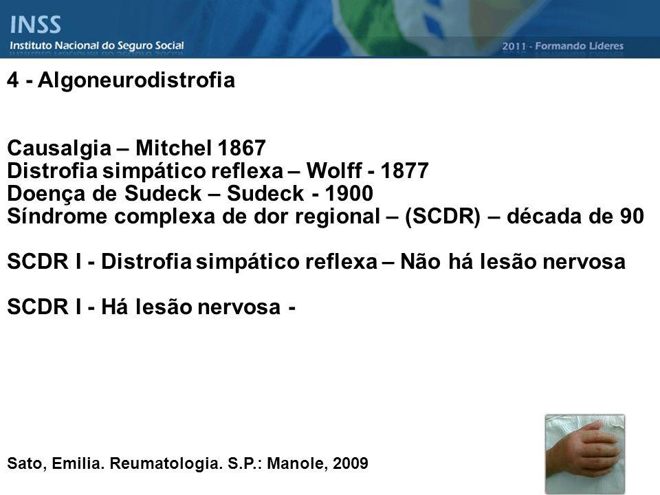 Distrofia simpático reflexa – Wolff - 1877