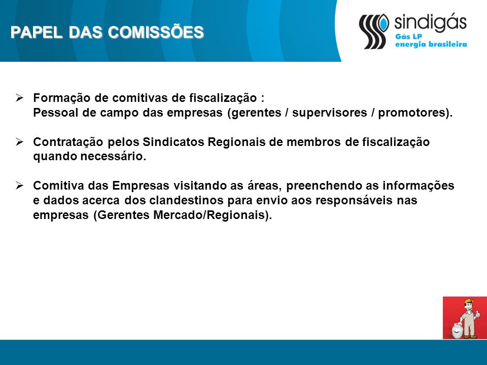 PAPEL DAS COMISSÕES Formação de comitivas de fiscalização :