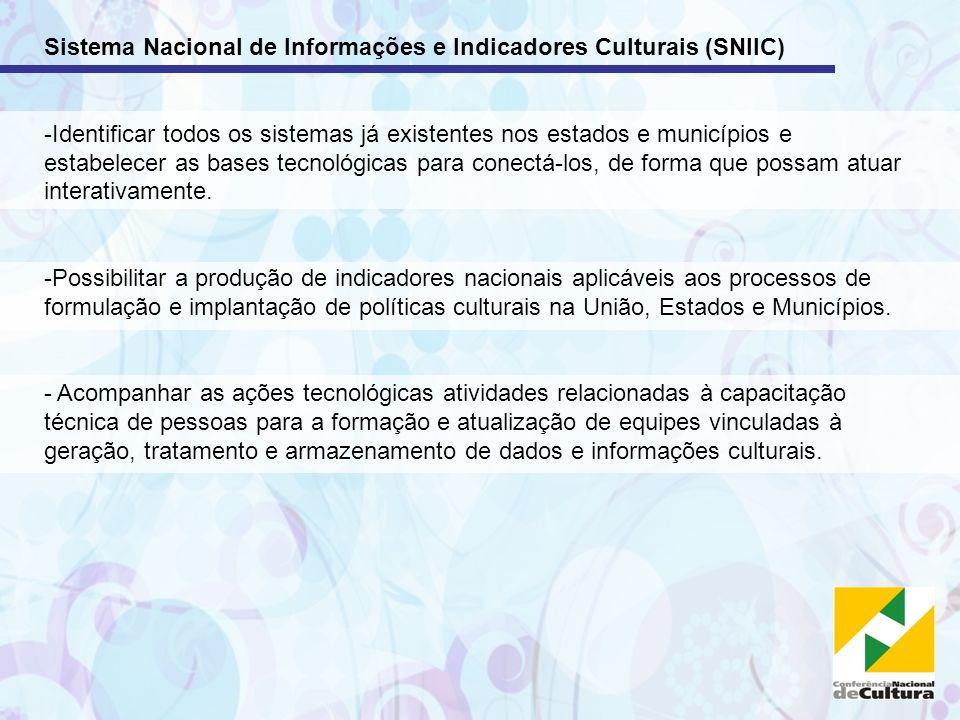 Sistema Nacional de Informações e Indicadores Culturais (SNIIC)