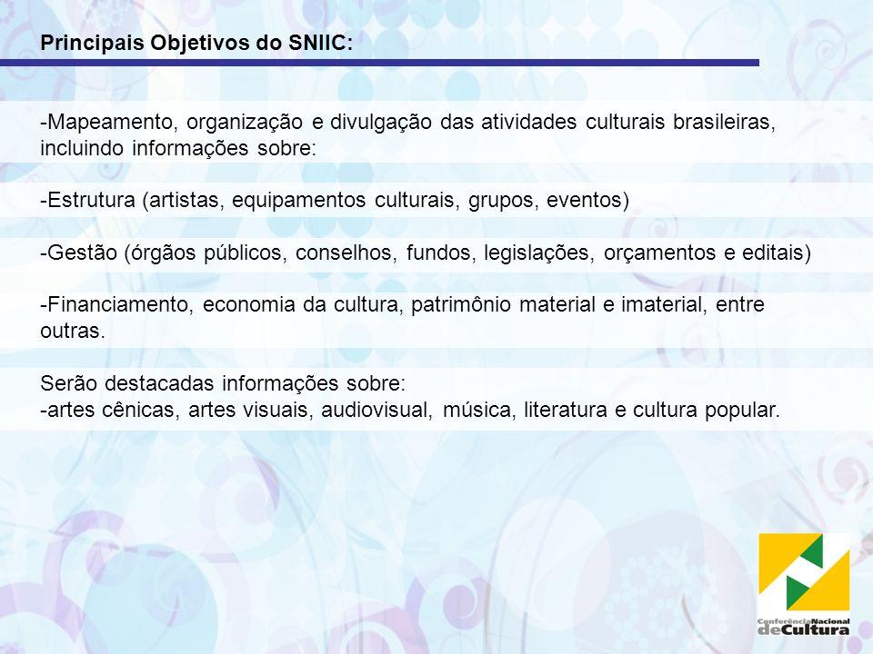 Principais Objetivos do SNIIC: